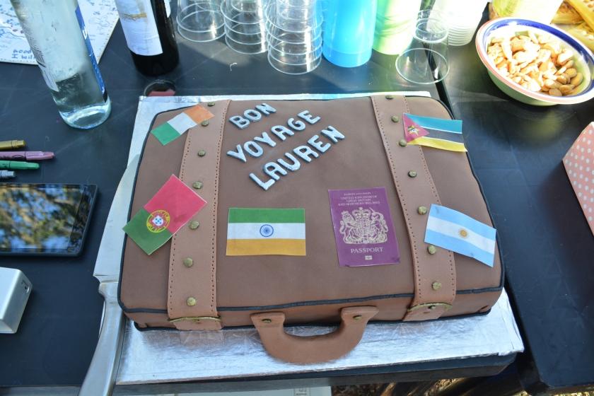 Lauren's despedida cake