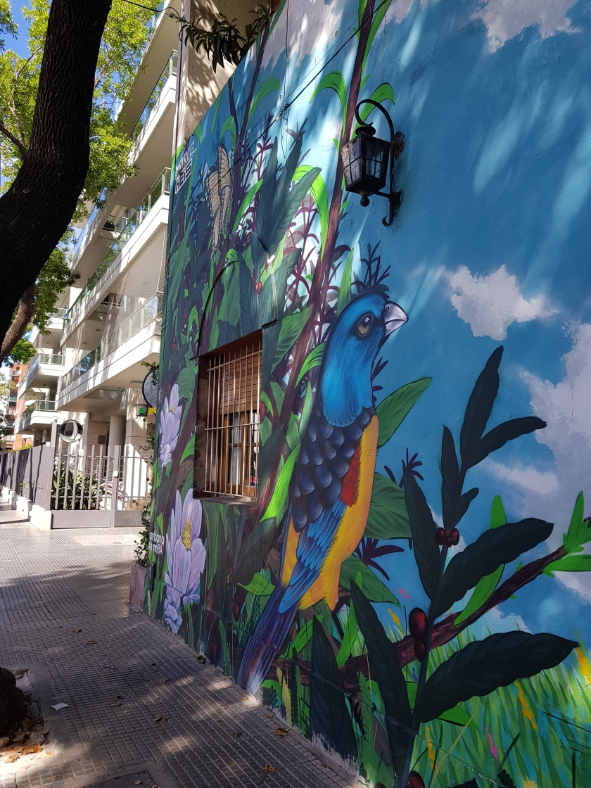 A beautifully painted house in Buenos Aires.