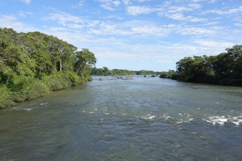 Iguazu falls upriver