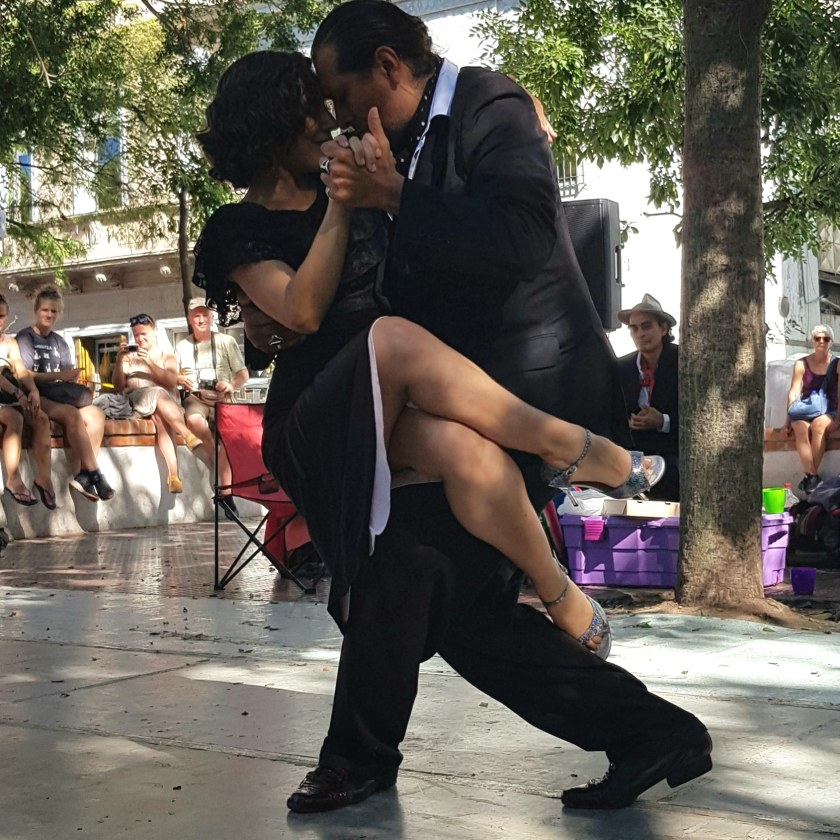Tango in Dorrego Square, Buenos Aires